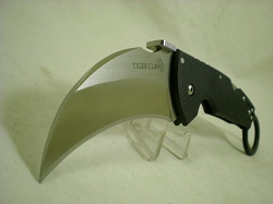 Cold Steel Tiger Claw Karambit, S35VN Stainless Steel, G10 Handle