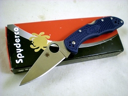 Spyderco Delica Dark Blue, M390 Stainless Steel