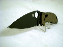 Spyderco Exclusive Manix 2, M390 Steel, Textured Brown G10